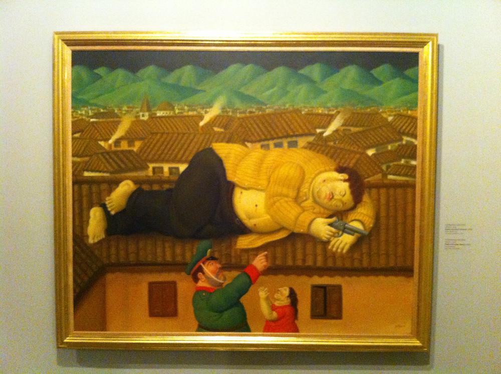 A morte de Pablo Escobar - Fernando Botero