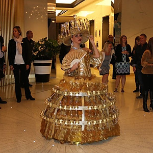 Our Walking Champagne Dress beauty at Loews Miami Beach.