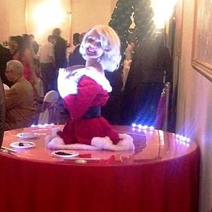 "Marilyn Monroe- ""Santa Baby"" Strolling table"