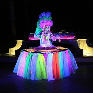 The Glow in dark event at The Breakers Palm Beach.