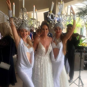 The wedding cocktail hour reception  at Weddings at Playa Largo Resort.