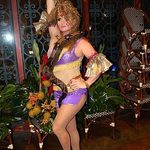 Our Snake Charmer at Cuba Libre Restaurant & Rum Bar, Orlando, FL.