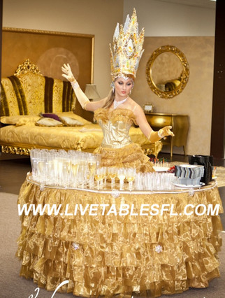 Golden Queen strolling table.jpg