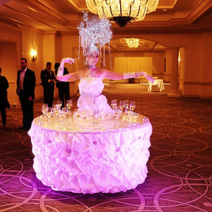 Crystal tree Live Strolling table at Turnberry Isle Resort & Country Club.
