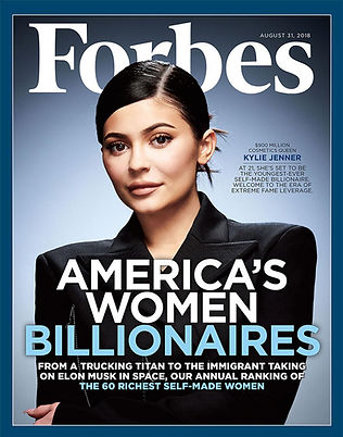 20 year old Kylie Jenner on forbes Cover