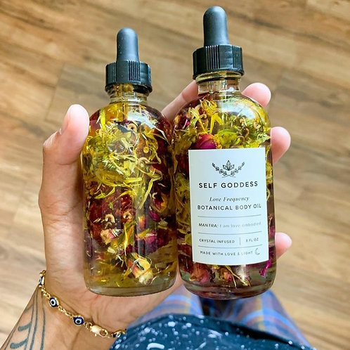 Love Frequency Botanical Body Oil-Crystal Infused