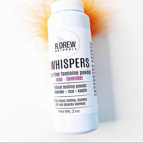 Whispers Talc Free Feminine Powder (rose - lavender)