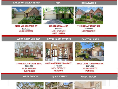 O'Neal Team Real Estate –  Weekly Listing Update