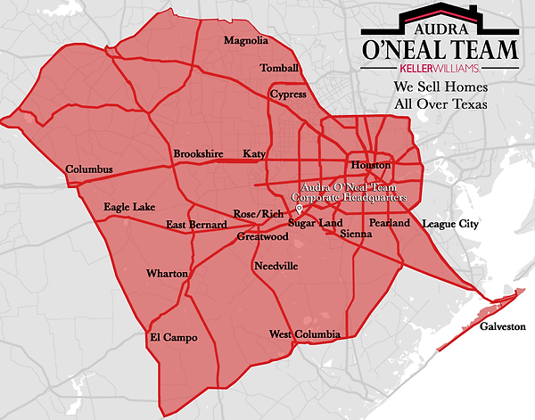 Audra O'Neal Team Coverage Map