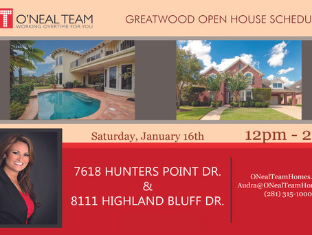 Greatwood Open House Schedule