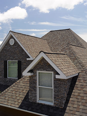 Landmark asphalt shingles in the color W