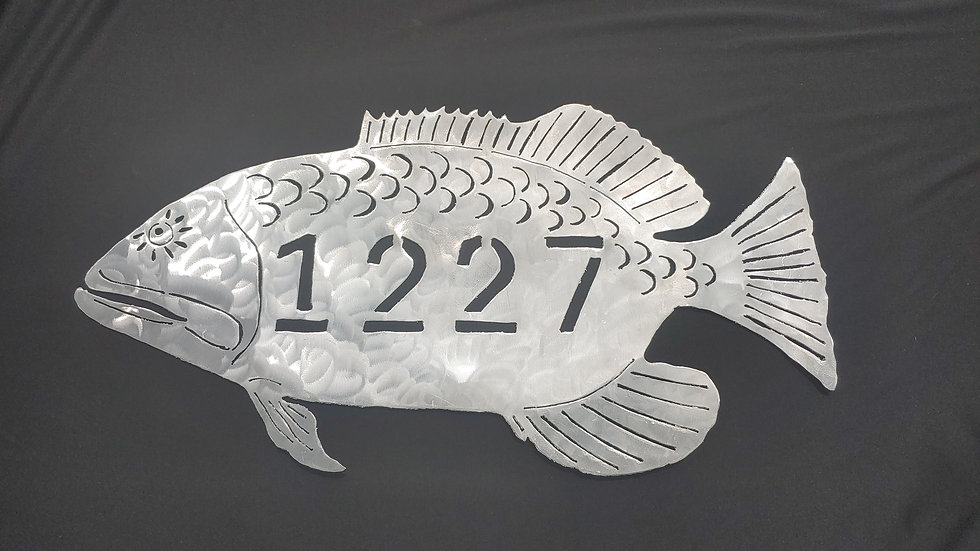 Custom address fish