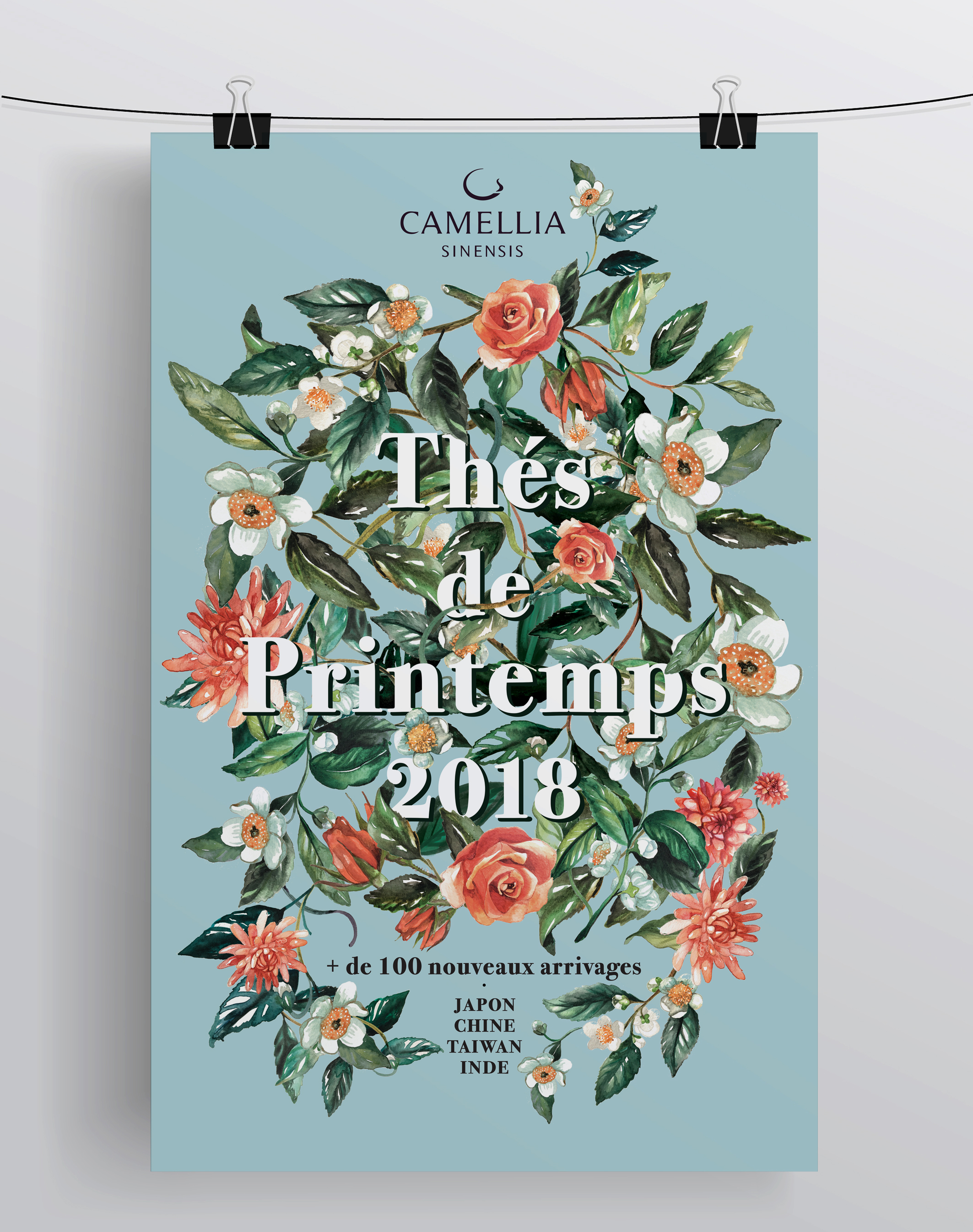 Thés de printemps - Camellia Sinensi