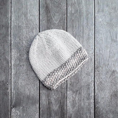 Tundra Slouchy with Seed Stitch Band