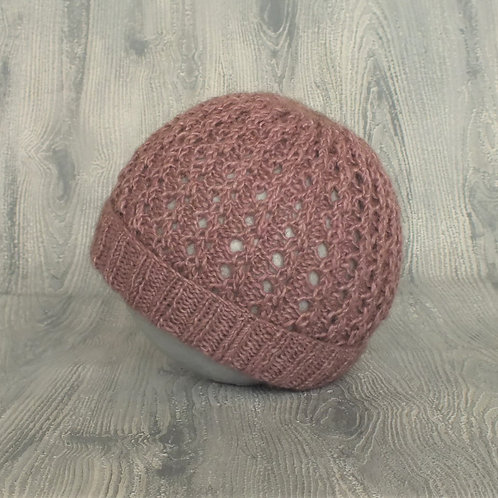 Lilac Lace Baby Beanie