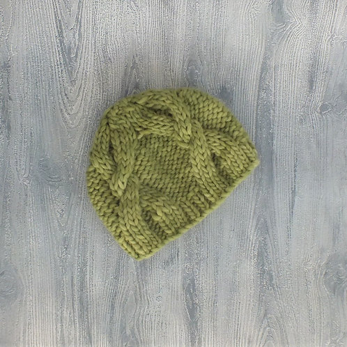 Avocado Cabled Beanie