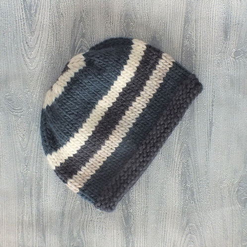 Teal Striped Slouchy