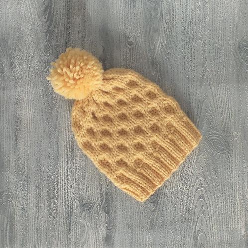 Butterball Honeycomb Pom Pom Beanie