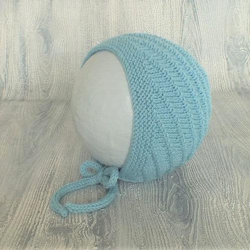 Glacier Swirl Merino Baby Bonnet