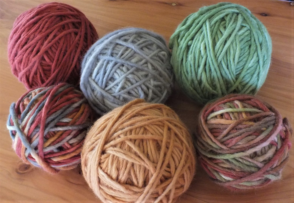 Hand dyed wool