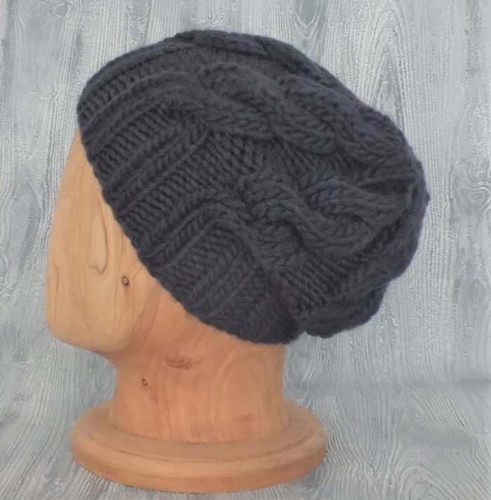 Charcoal Cabled Slouchy