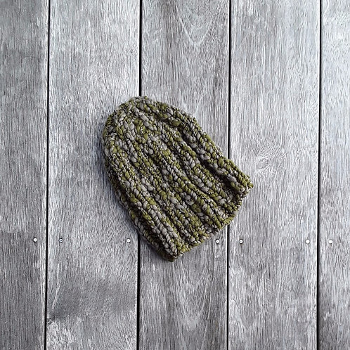 Moss on Stone Ribbed Beanie