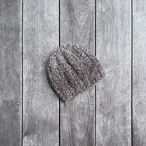 Natural Flecked Ribbed Beanie