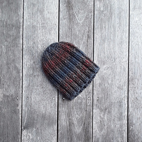 Graduated Grey Ribbed Beanie
