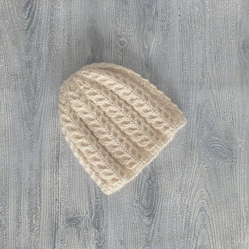 Oatmeal Feather Baby Beanie