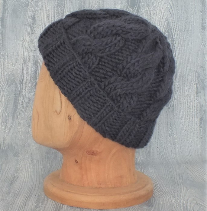 Charcoal Cabled Beanie