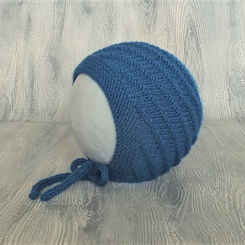Teal Swirl Baby Bonnet
