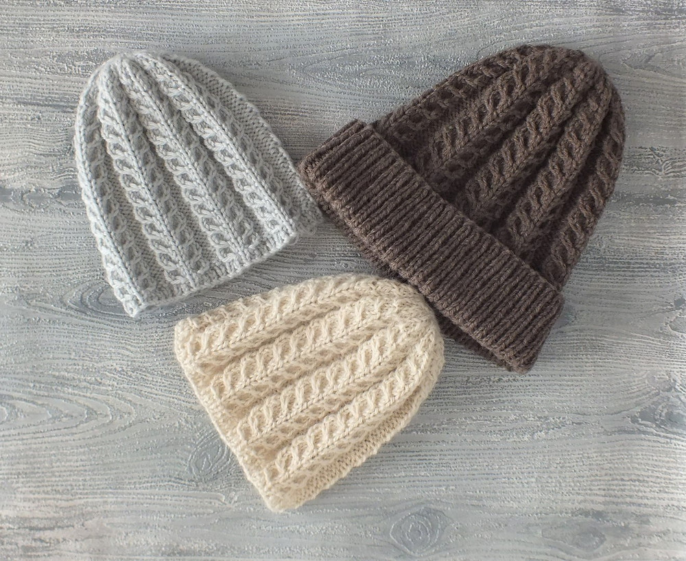 Feather Patterned Baby Beanies plus adult Beanie
