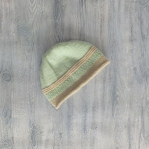Mint and Oatmeal Beanie