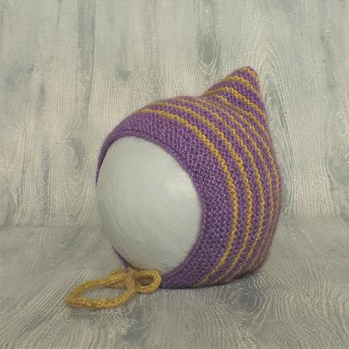 Purple Pixie Bonnet