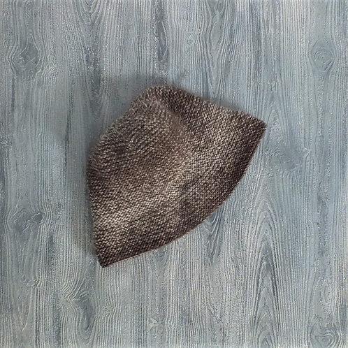 Wide Brim Light Silver Birch Hat