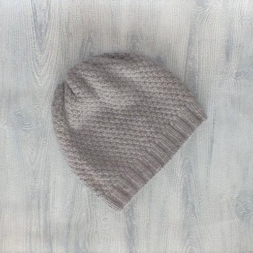 Grey Seed Stitch Slouchy