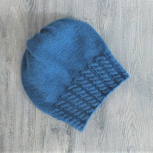 Blue Cable Band Slouchy