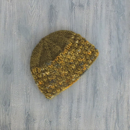 Olive and Grapefruit Beanie