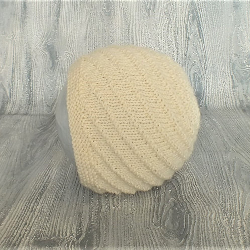 Buttermilk Swirl Merino Bonnet