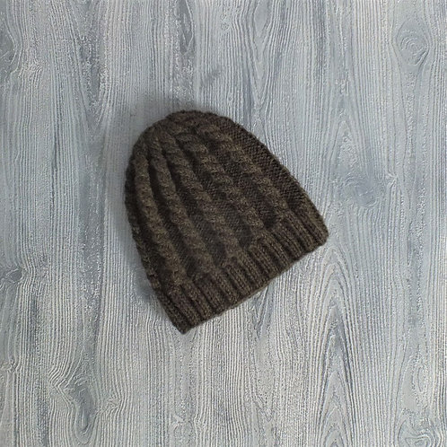 Dark Olive Cabled Beanie