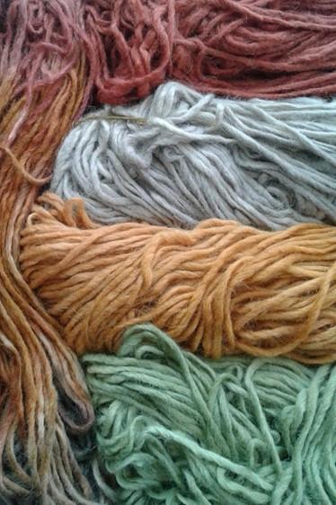 Hand dyed Alpaca/wool blend