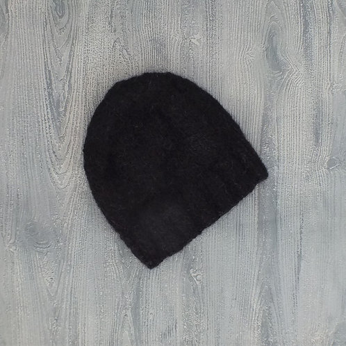Basic Black Alpaca Beanie