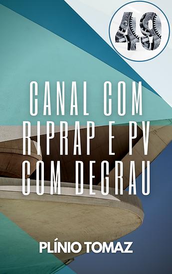 Canal com Riprap e PV com degrau