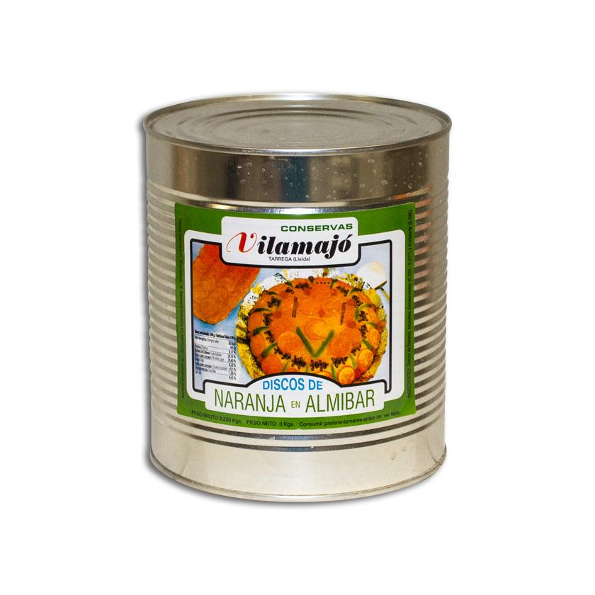 Discos taronja semi confitada