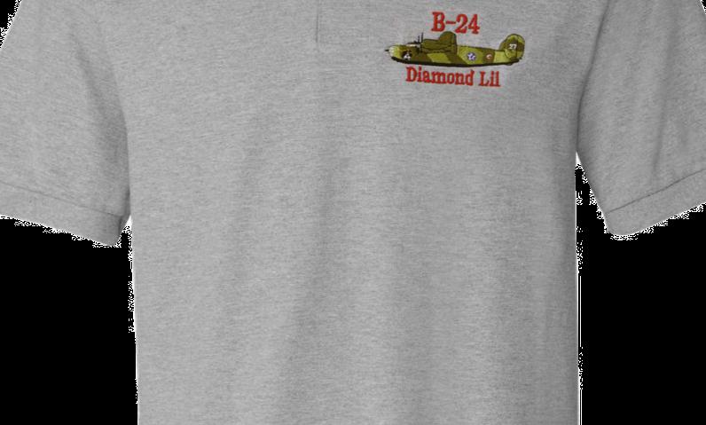 """Diamond Lil"" B-24 Liberator Pique Polo"