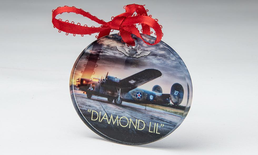 Acrylic Oval Christmas Ornament