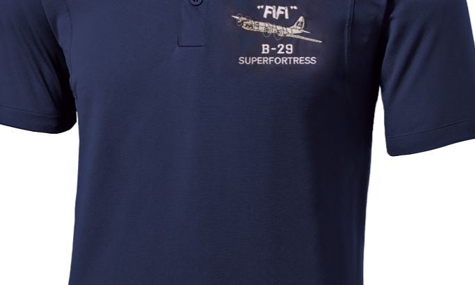 """FIFI"" B-29 Superfortress Performance Polo Shirt"