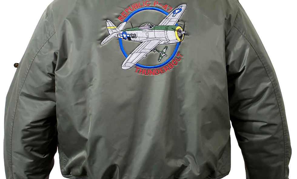 "P-47 ""Thunderbolt"" MA-1 Flight Jacket"