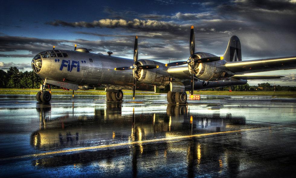 "B-29 ""Superfortress"" FIFI Nashua Rain"