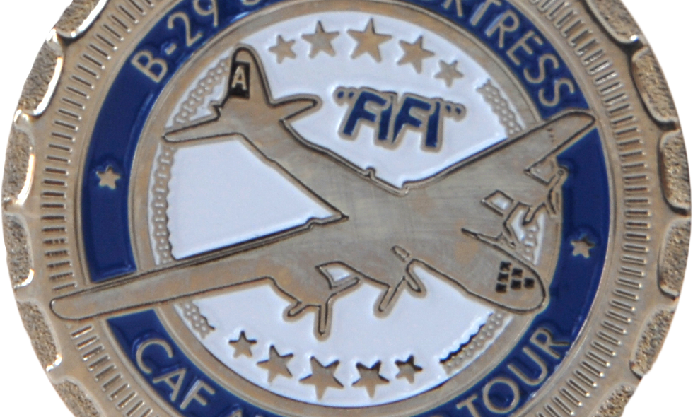 """B-29 Superfortress """"FIFI"""" Challenge Coins"""